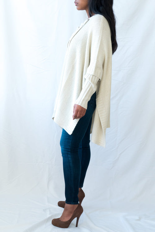 Tie-front Everyday Poncho - BLANK Wardrobe
