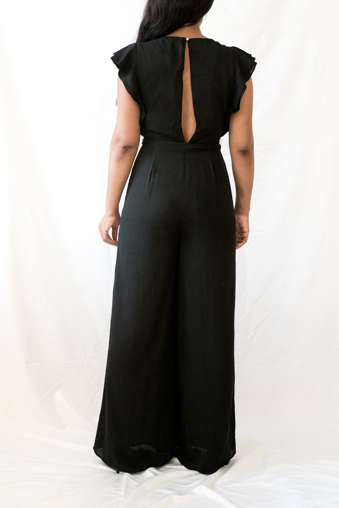 Give them Sass Ruffle Wide Leg Jumpsuit - BLANK Wardrobe