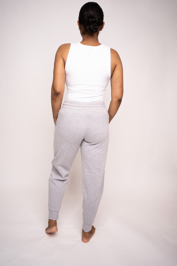 Tank Top and Jogging Pant Two-Piece Set (Heather Gray)