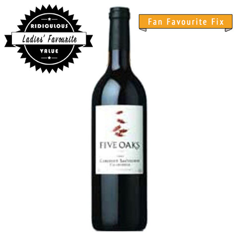 Five Oaks Cabernet Sauvignon, Red wine, Five Oaks, winefix