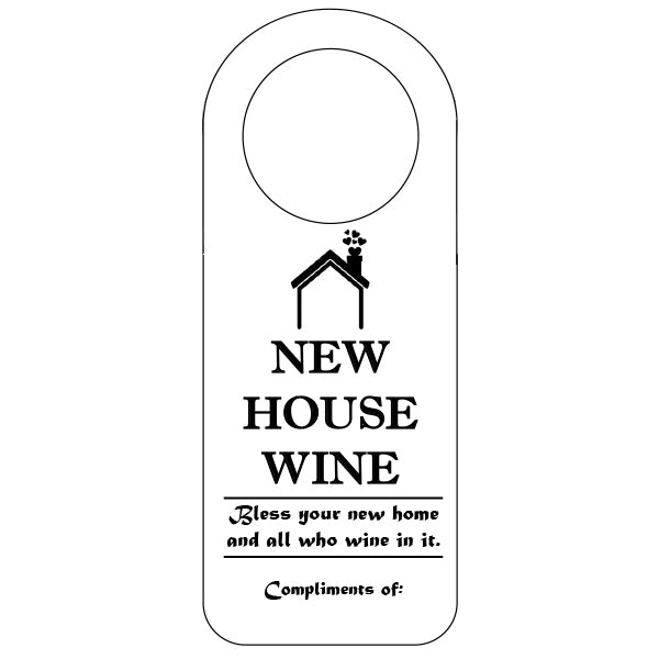 Housewarming: Bless your new home, Wine Tags, winefix, winefix