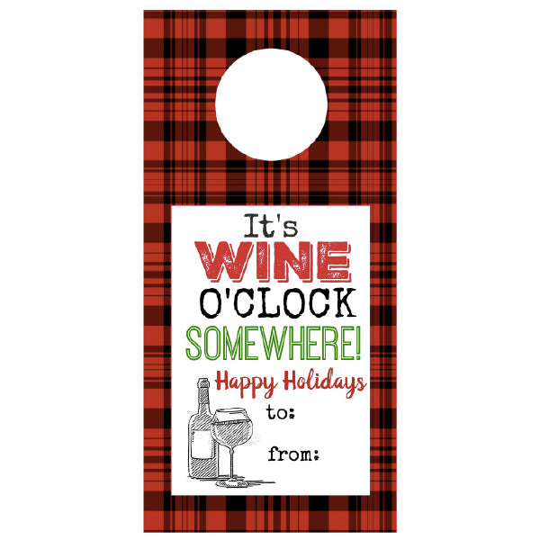 It's WINE O'Clock Somewhere!, Wine Tags, winefix, winefix