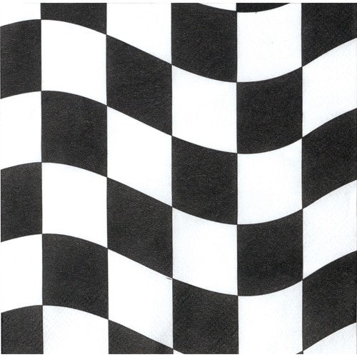 Black & White Checkered Dinner Napkins
