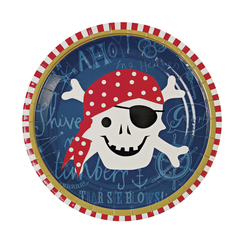 Ahoy There Pirate Paper Plates