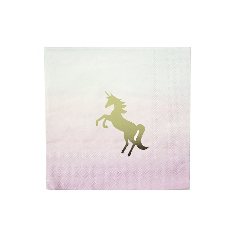 We Heart Unicorns Cocktail Napkins