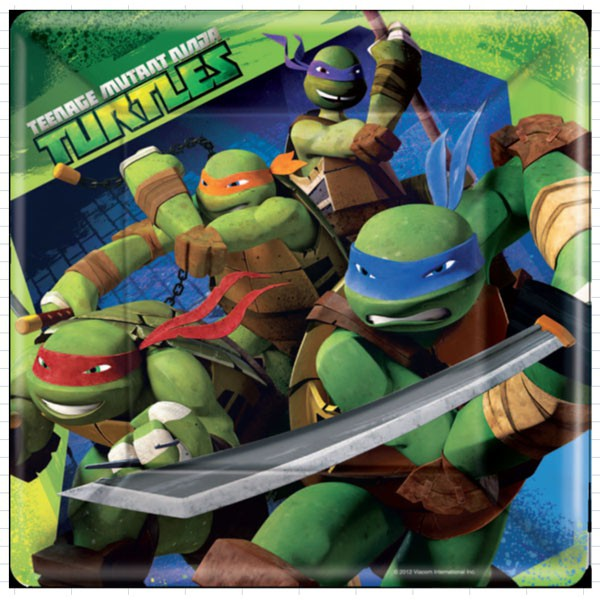Teenage Mutant Ninja Turtle Dinner Plates
