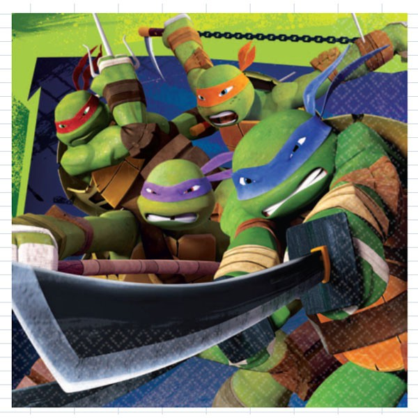 Teenage Mutant Ninja Turtle Lunch Napkins