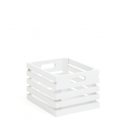 Wooden Box - White Slat