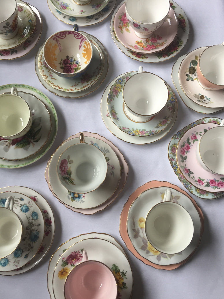 Vintage China Tea Set Trio