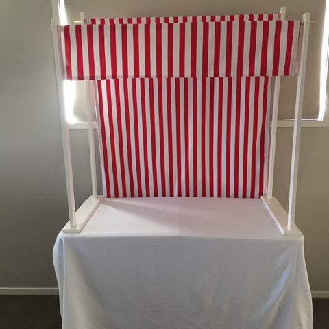 Red & White Stripe Canopy