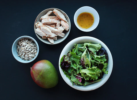 Deconstructed chicken mango salad