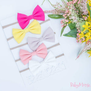 Set Of 5 Bow Headbands