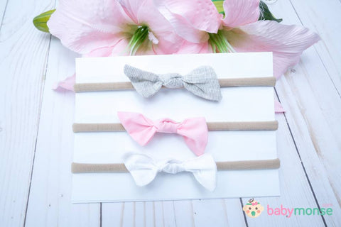 Set Of 3 Bitsy knot bows Headband