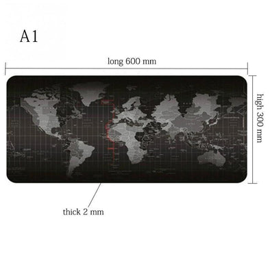 Computer - World Map Gaming Desk Pad