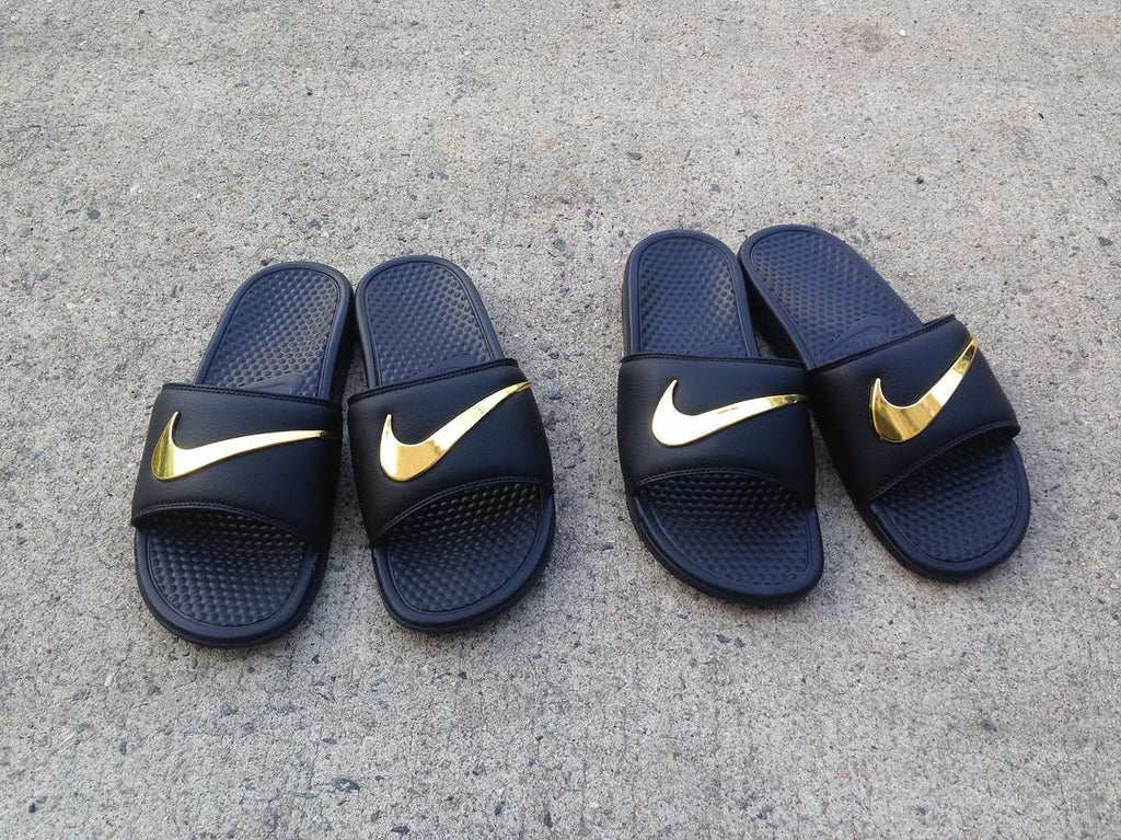 dc0570a3b ... where to buy nike benassi swoosh golden check slides 14e5d a4d4a