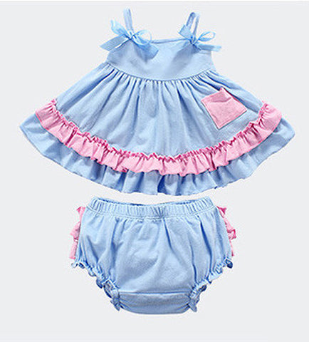 Baby Blue & Pink Swing Top Set