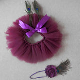 Baby Peacock Tutu Photo Prop Outfit
