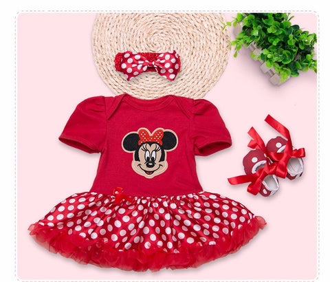 Minnie Polka Dot 1st Birthday Dress Set