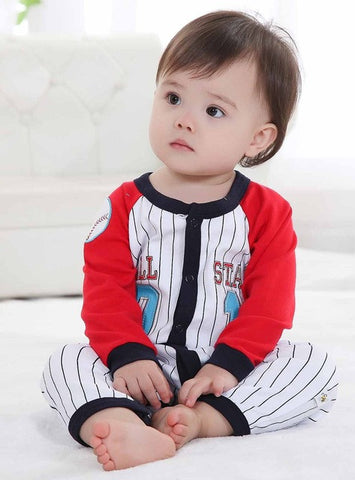 Baby Boy One-Piece Long-Sleeve Pajamas