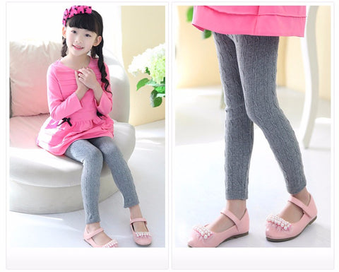Girl's Knit Leggings