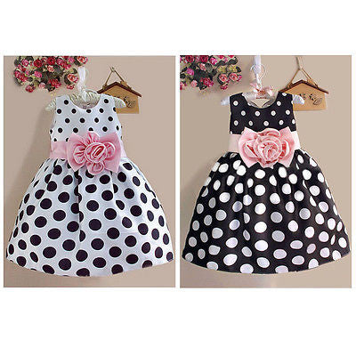 Girl's Polka Dot Party Dress