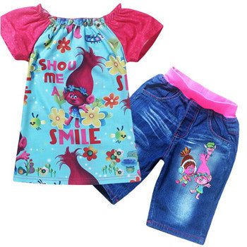 Trolls Girls Short Set