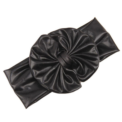 Metallic Bow Girl's Headband in assorted colors