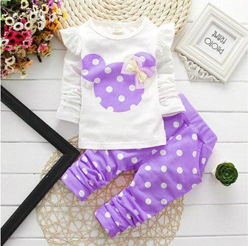 Minnie Polka Dot Pant Outfit