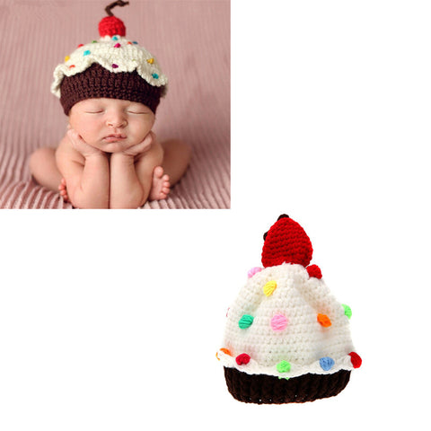 Newborn Cupcake Beanie Hat Photography Prop