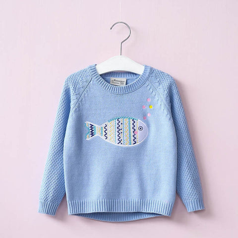 Girl's Adorable Fish Sweater