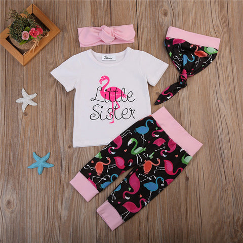 Little Sister Flamingo 4 Piece Outfit