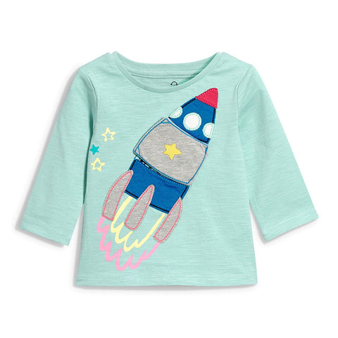 Rocket Ship 3/4 Sleeve T-Shirt