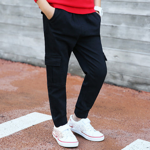 Boys Cotton Cargo Pants