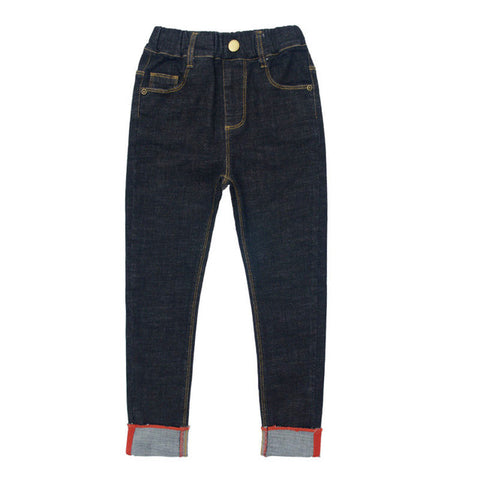 Girls Mid Rise Straight Leg Denim Jeans