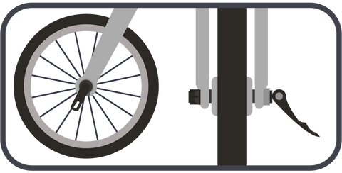 prevelo front wheel insertion