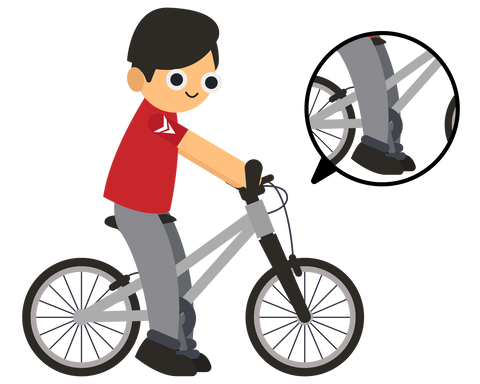 kids bicycle fit pedaler