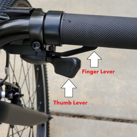Shimano Rapid Fire Shifter Action