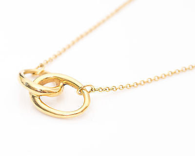 683b4bd5bf56 Tiffany   Co. Elsa Peretti Double Loop 18k Gold Pendant Necklace