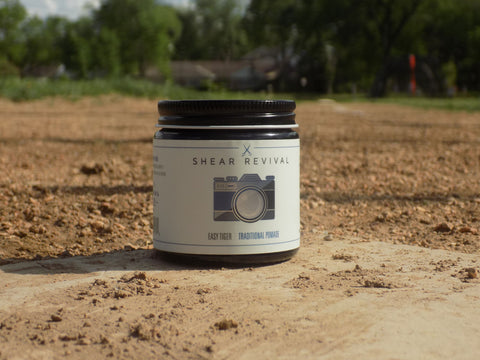Easy tiger pomade on a baseball field.