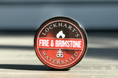 Lockhart's water based fire and brimstone pomade.