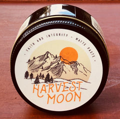 Faith and integrity harvest moon showing the lid labeling.
