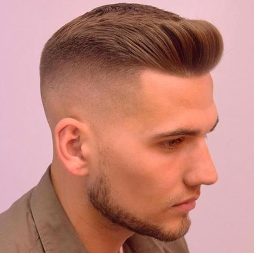 Modern crew cut haircut for men.