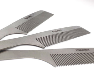 steel combs for beards and thick hair