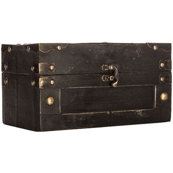 black box with gold rivets