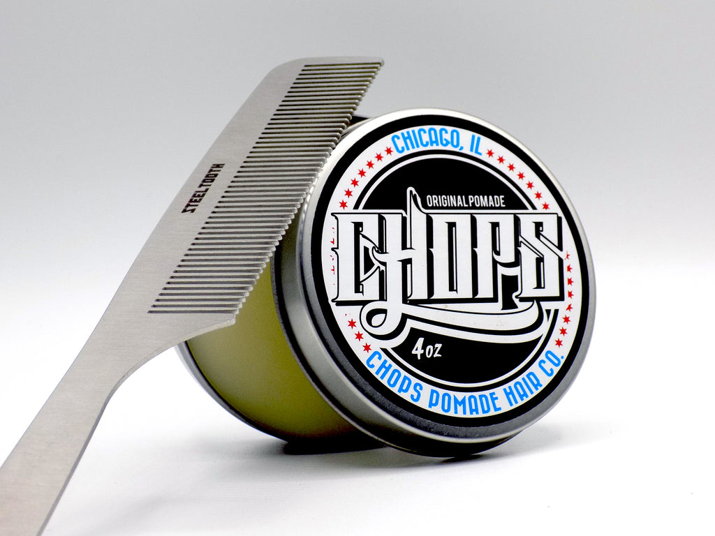 chops pomade and a steeltooth comb which are sold together for a discounted rate
