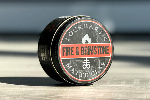 lockharts fire and brimstone clay based pomade