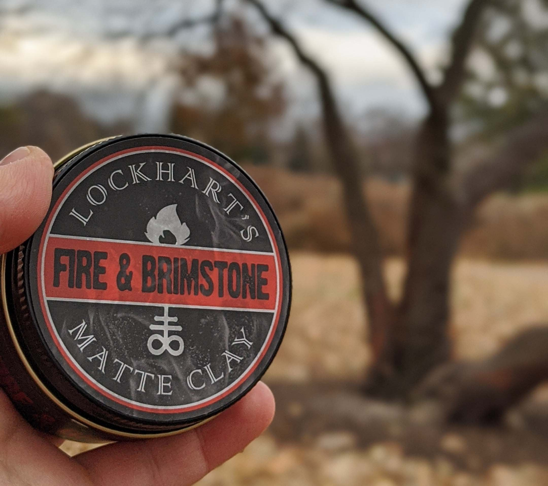 Fire and brimstone matte clay pomade.