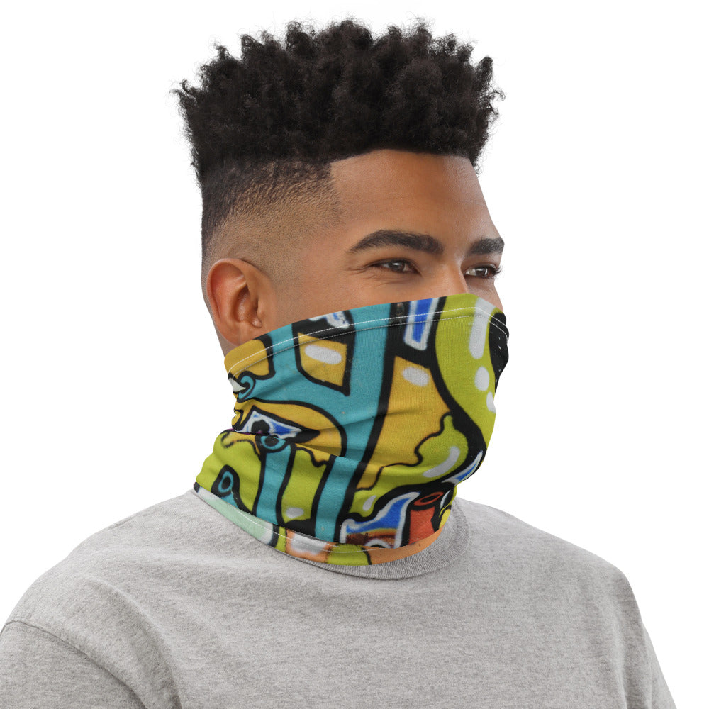 Funky Wall Mural Commuter Mask
