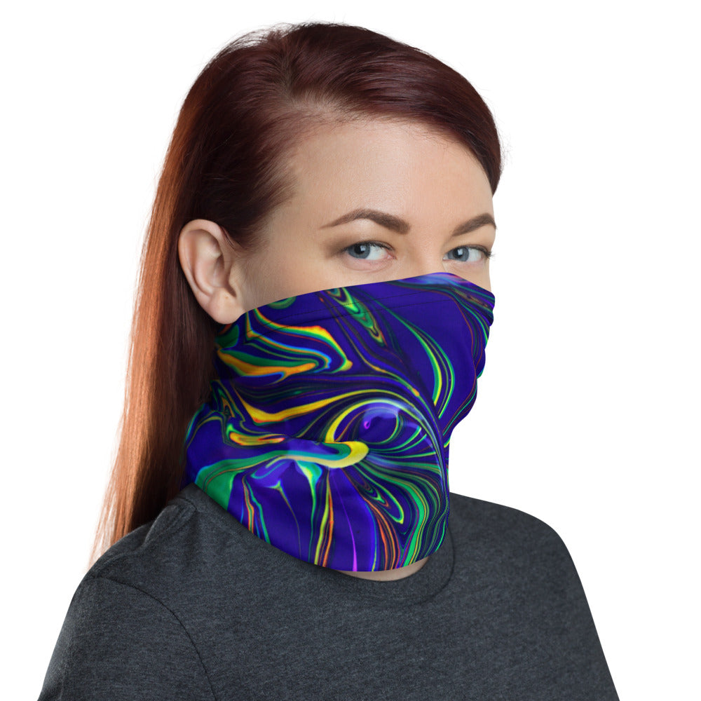 Neon Swirl Commuter Mask