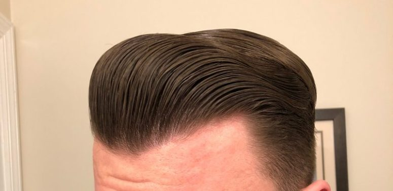 Paradox pomade in the hair.